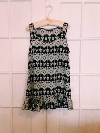 Vintage Black & White Shift Dress, $18