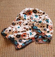 Silk Floral Scarf, $10