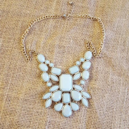 Mint Acrylic Necklace, $8