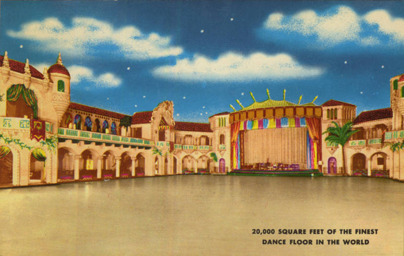 Aragon_Ballroom,exterior_with_neon_marquee_Steppenwolf,_interior_of_ballroom_with_chairs_for..._(NBY_415559)