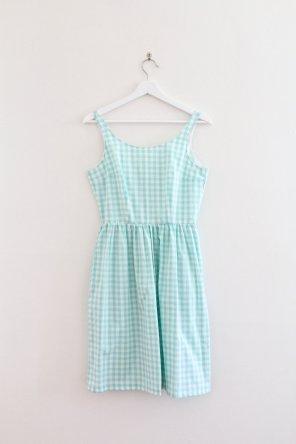 Eva+Dress+-+Mint+Gingham