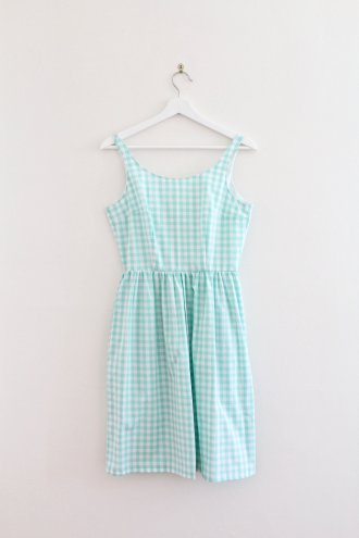 Eva+Dress+-+Mint+Gingham